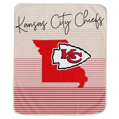 NFL Kansas City Chiefs Ultra Fleece State Stripe Blanket