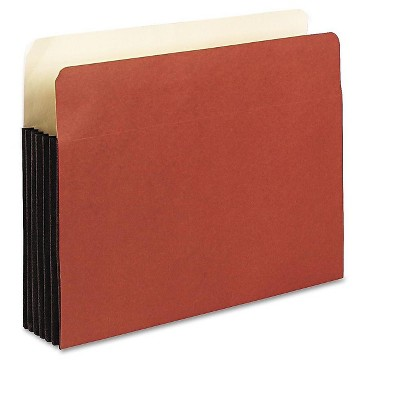 """Pendaflex WaterShed File Pockets 5.25"""" Expansion Letter Size Redrope 618899"""