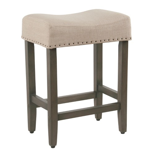 Surprising 24 Rumford Saddle Counter Stool With Wood Leg Threshold Pdpeps Interior Chair Design Pdpepsorg