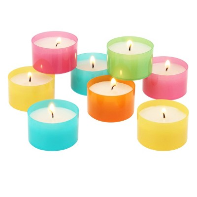 96pc Tealight Candles Blue/Pink/Yellow - Stonebriar Collection