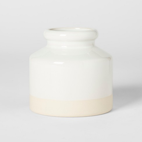 Decorative Vase - White - Threshold™ - image 1 of 4