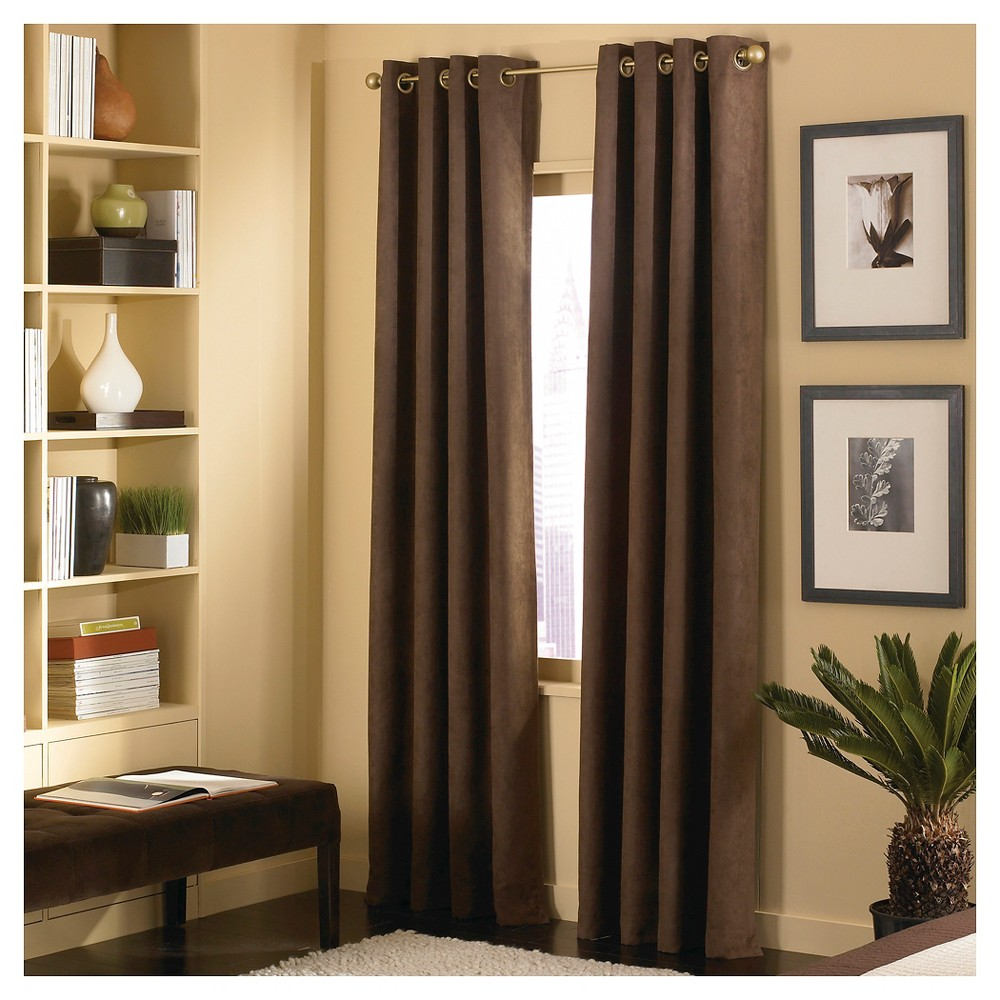 Image of Curtainworks Cameron Curtain Panel - Chestnut (Brown) (108)