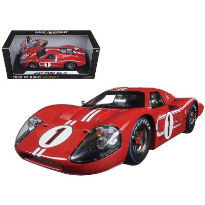 1967 Ford GT MK IV #1 Red 1/18 Diecast Model Car by Shelby Collectibles