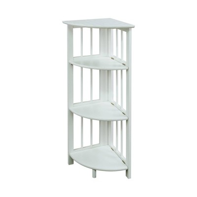 4 Shelf Corner Folding Bookcase - Flora Home