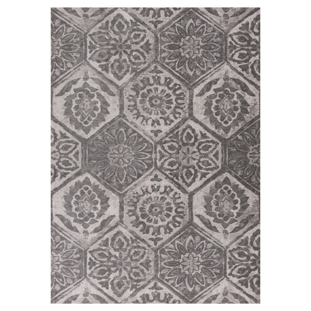 Gray Mosaic Design Pressed/Molded Area Rug 5'x7' - Kas Rugs