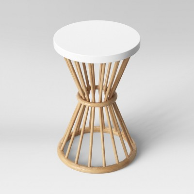 Aloysia Rattan End Table White - Opalhouse™