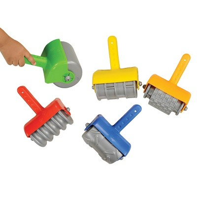 Kaplan Early Learning Jumbo Textured Hand Grip Sand Rollers and 5 Different Patterns