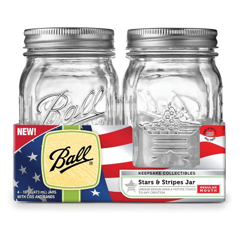 Ball 16oz 4pk Seaonal Canning Jars Regular Mouth - image 1 of 5