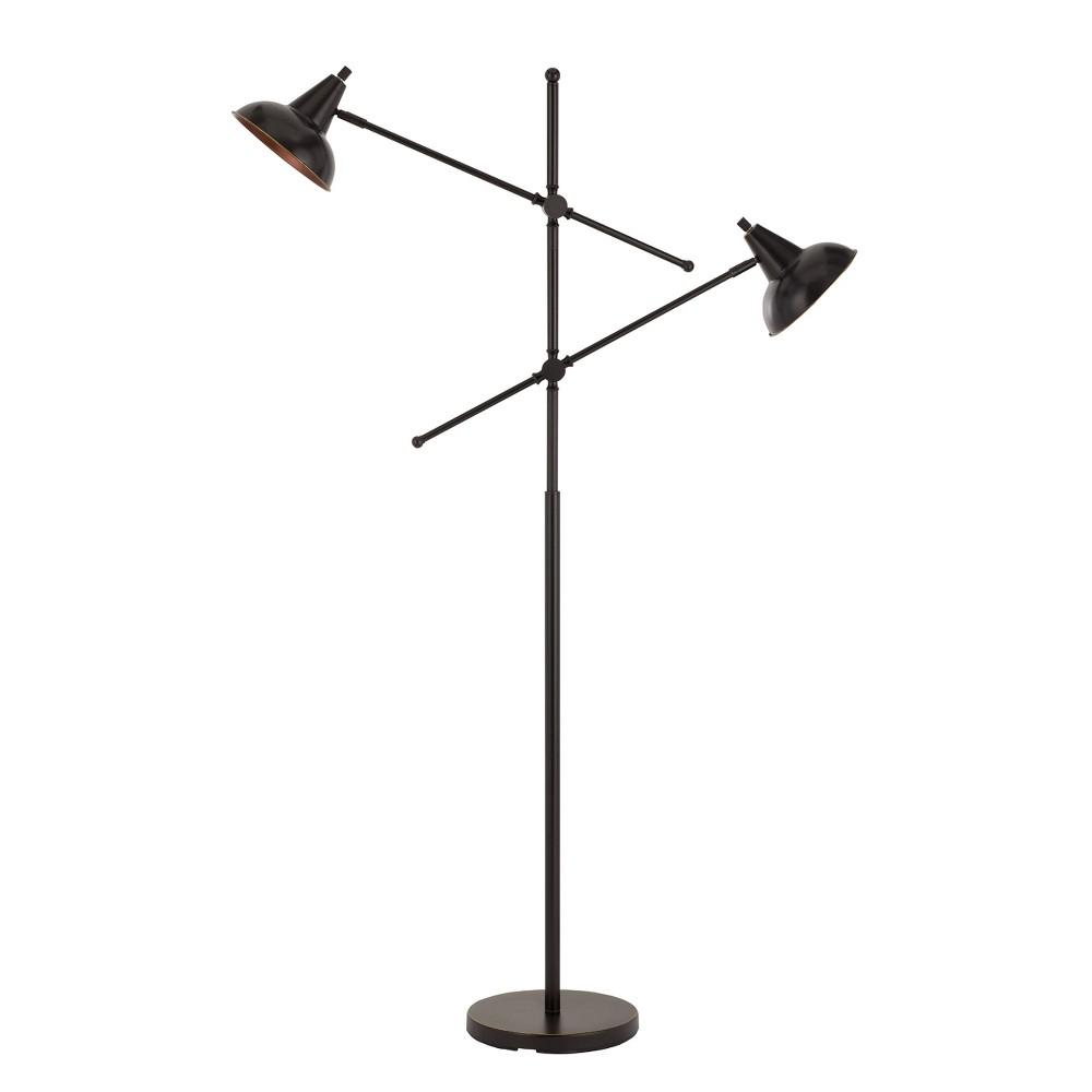 60W X 2 Canterbury Metal Adjustable Floor Lamp Black (Lamp Only) - Cal Lighting