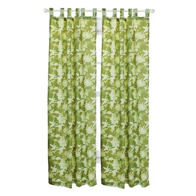 2pc Safari Camo Long Curtains Camouflage Window Panels - Disney..