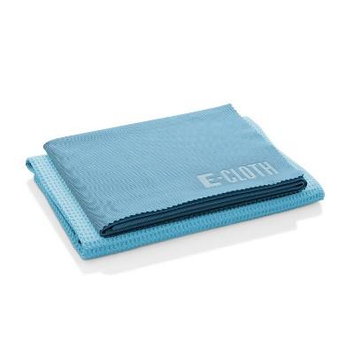 E-Cloth Window Cleaning Microfiber Cloth Set - Blue - 2pc