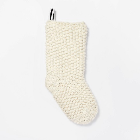 Cream Chunky Knit Stocking - Threshold™ designed with Studio McGee - image 1 of 4