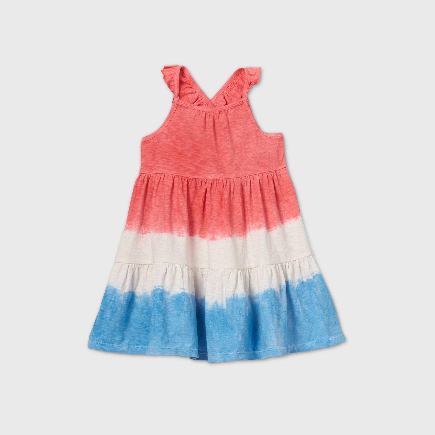 Toddler Girls' Tank Top Dip-Dye Flutter Sleeve Dress - Cat & Jack™ Pink/Blue - image 1 of 2