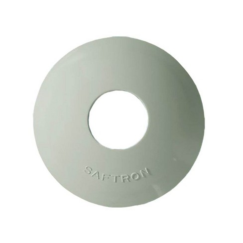 Saftron High Impact Polymer Escutcheon for 1.9 Inch OD Pool Rail, White (2 Pack) - image 1 of 2
