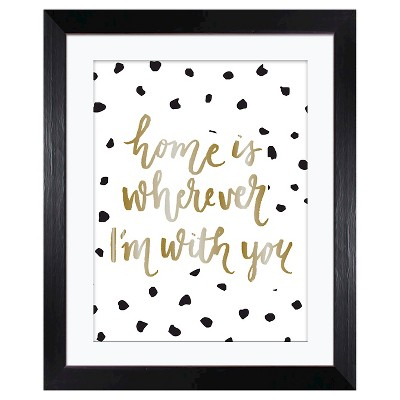 Home is With You  Framed Wall Art - Threshold™