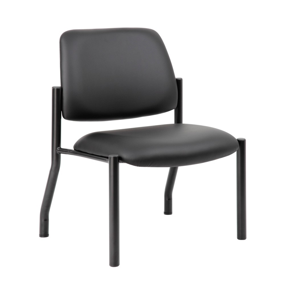 Image of 400lbs Weight Capacity Guest Chair Antimicrobial Black - Boss Office Products