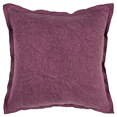 """22""""x22"""" Solid Pillow Cover Plum - Rizzy Home"""