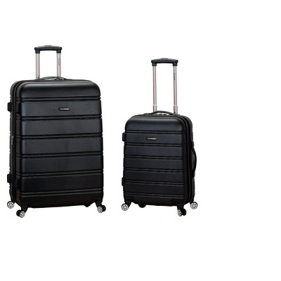 Rockland Melbourne 2pc Expandable ABS Spinner Luggage Set - Black