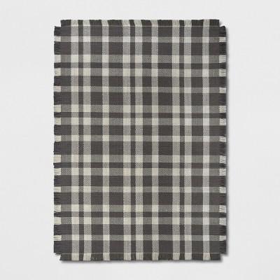 7'X10' Plaid Tufted Area Rug Gray - Threshold™