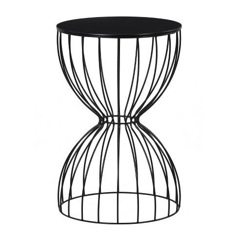 Cami Side Table Noir Black - Adore Decor - image 1 of 4