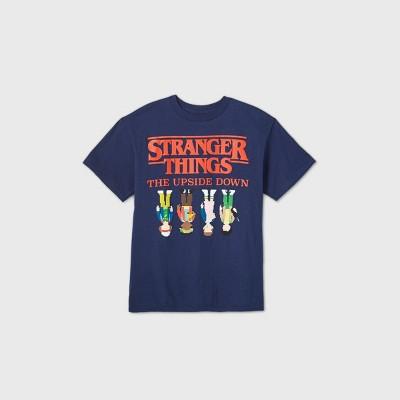 Boys' Netflix Stranger Things 'The Upside Down' Short Sleeve Graphic T-Shirt - Blue