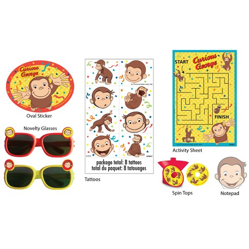 48ct Curious George Favor Packs - image 1 of 2