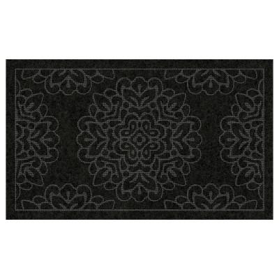 1'6 X2'6  Damask Doormats Black - Multy Home LP