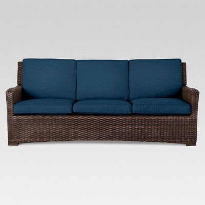 Halsted Wicker Patio Sofa with Cushions - Threshold™
