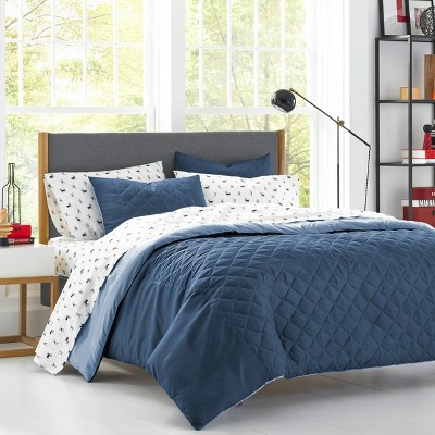 Topper Duvet Cover Set Navy - Poppy & Fritz