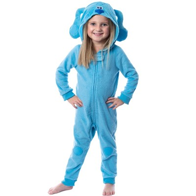 Nickelodeon Toddlers' Blue's Clues Hooded Union Suit Costume Sleep Pajama