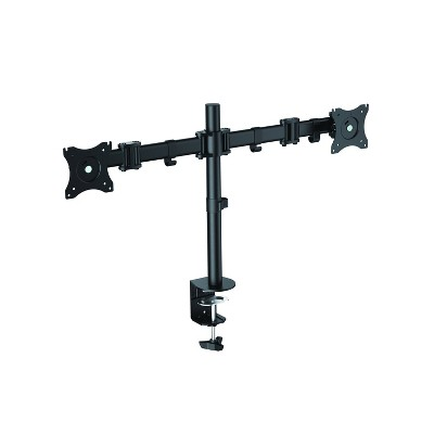 Double Articulated Dual Monitor Desk Mount, Black