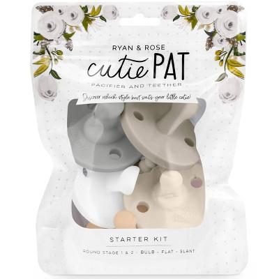 Ryan & Rose Cutie PAT Pacifier Kit - Neutral - 5pc