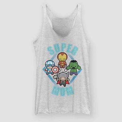Women's Avengers Super Mom Dudes Graphic Tank Top (Juniors') - White