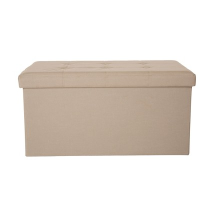 Delicieux Tufted Linen Foldable Storage Bench   Cream   Glitzhome : Target