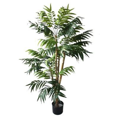 Pure Garden 5ft Tropical Palm Artificial Tree