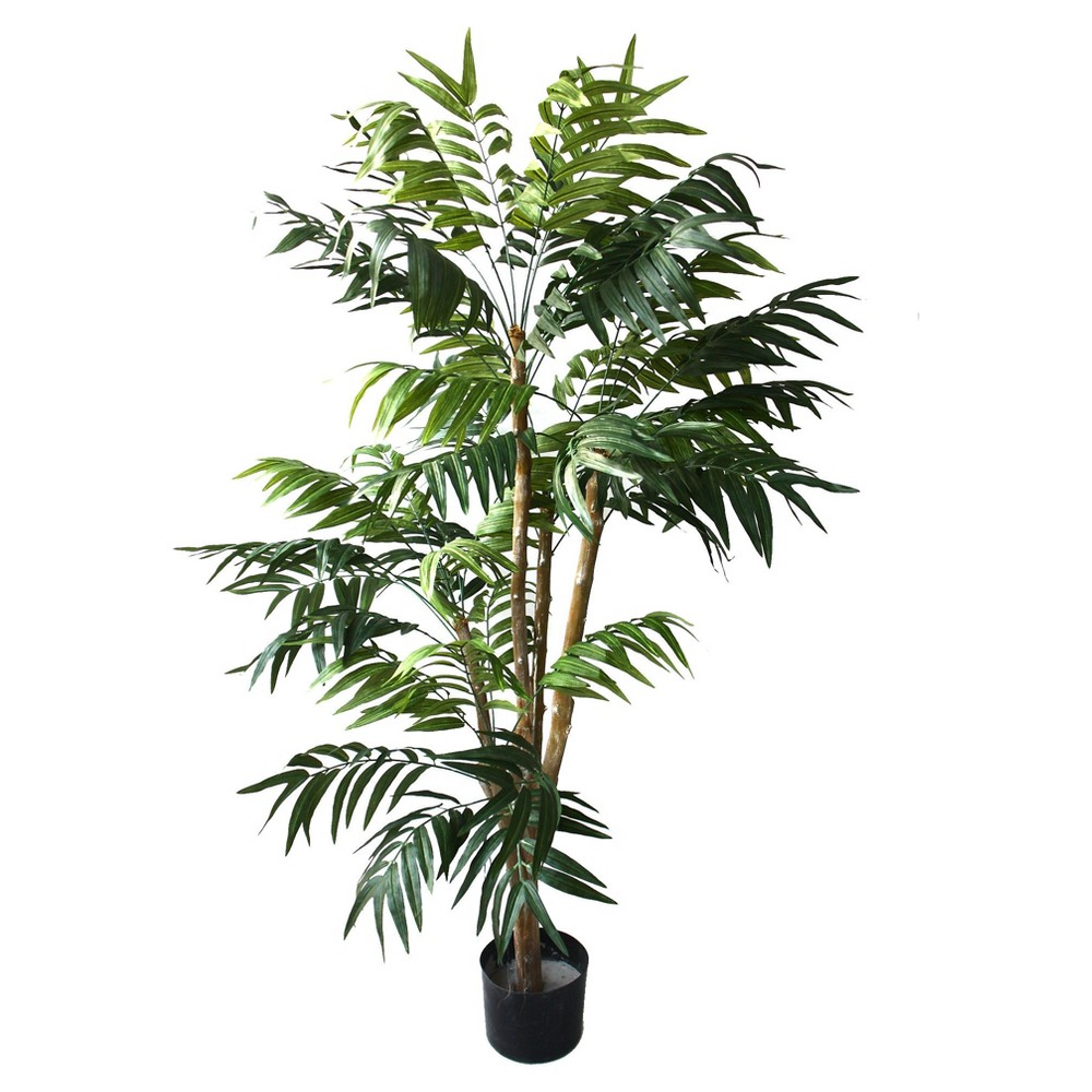 Image of Pure Garden 5ft Tropical Palm Artificial Tree