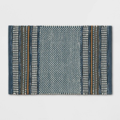 2'X3' Stripe Scatter Rug Blue - Threshold™