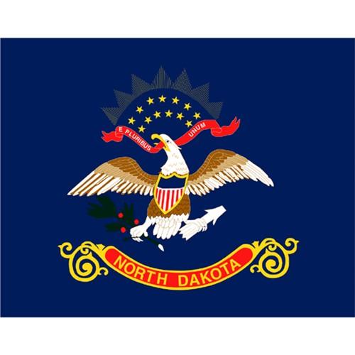 Halloween North Dakota State Flag - 4' x 6'