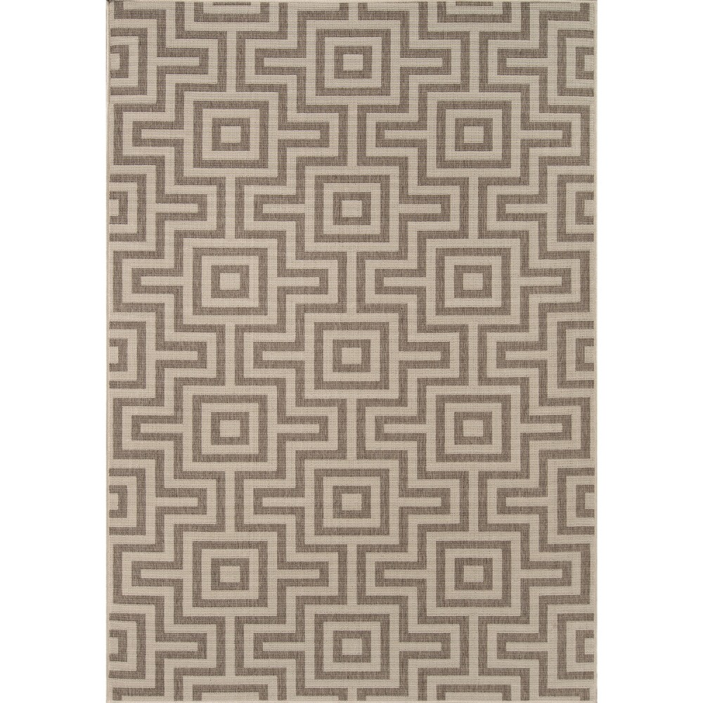 5'X8' Solid Area Rug Taupe (Brown)
