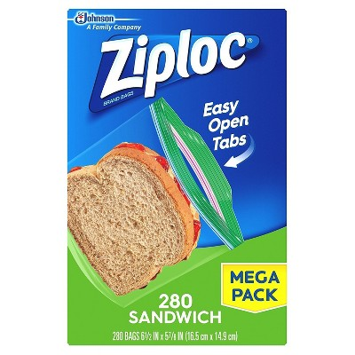 Ziploc Zip Sandwich Bags- 280ct
