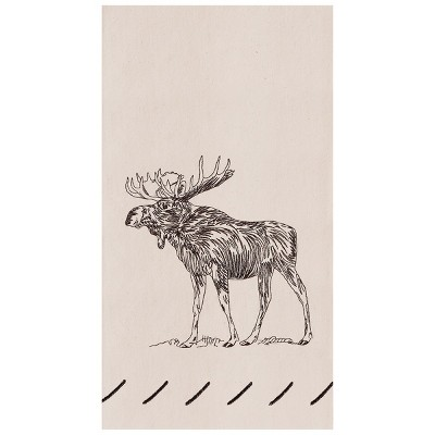 C&F Home Forest Moose Embroidered Flour Sack Kitchen Towel