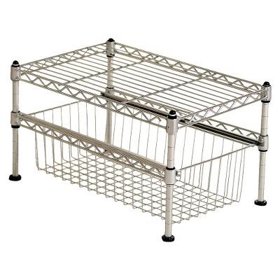 Seville Mini Basket Shelf Organizer - Silver