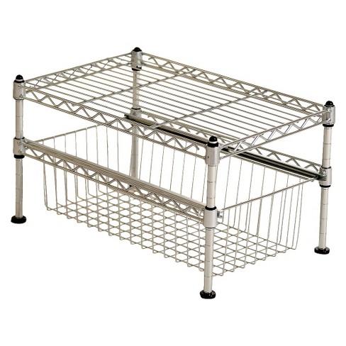 seville mini basket shelf organizer silver target. Black Bedroom Furniture Sets. Home Design Ideas