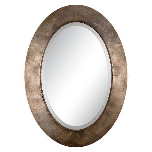Oval Kayenta Antique Decorative Wall Mirror Silver Champagne - Uttermost - image 1 of 2