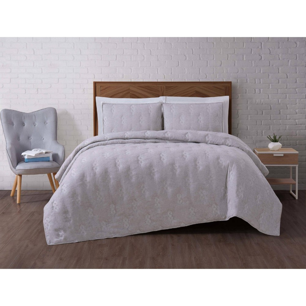 Image of Full/Queen Tender Gray Quilt Set - Brooklyn Loom