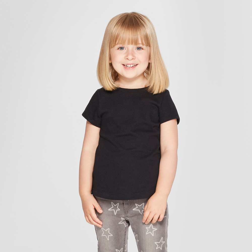 Toddler Girls' Short Sleeve T-Shirt - Cat & Jack Black 18M