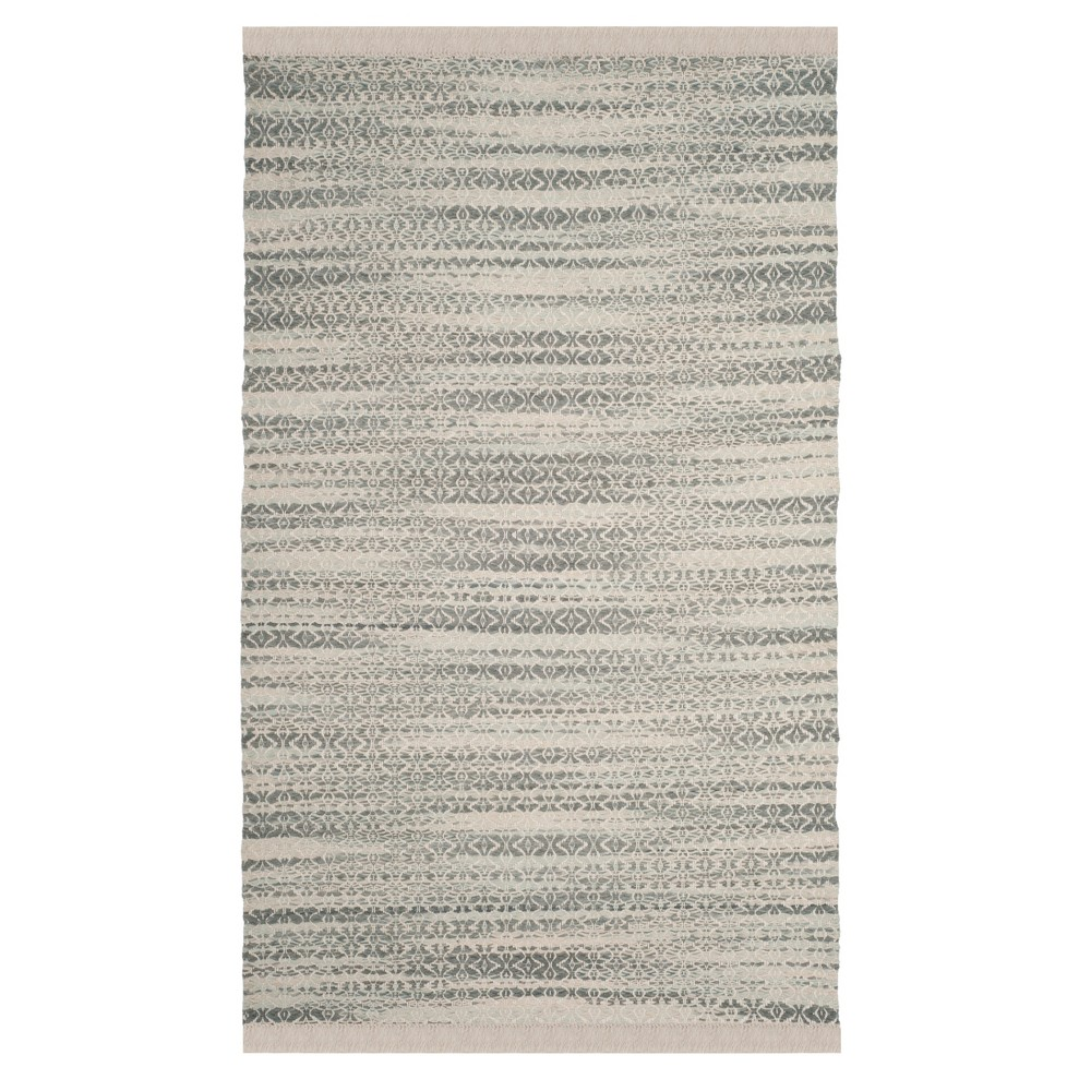 Gray/Ivory Solid Tufted Area Rug 5'X8' - Safavieh, White Gray