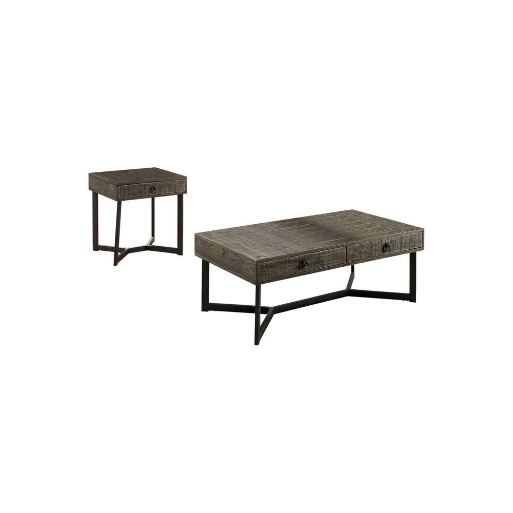 Discounts 2pc Craddock Coffee Table Set Dark Oak - miBasics