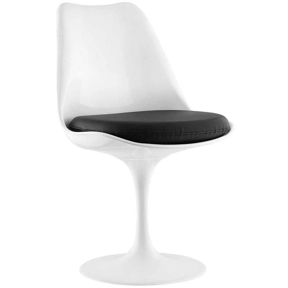 Lippa Dining Vinyl Side Chair Black - Modway