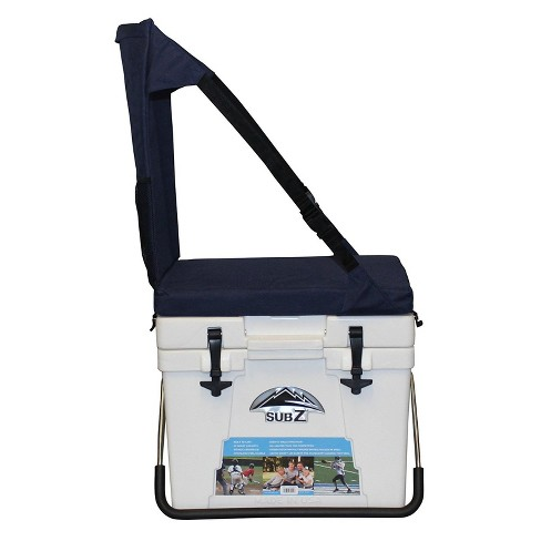 Sub Z Travel 23 Quart Double Wall Insulated Cooler With Cushioned Seat, White - image 1 of 3